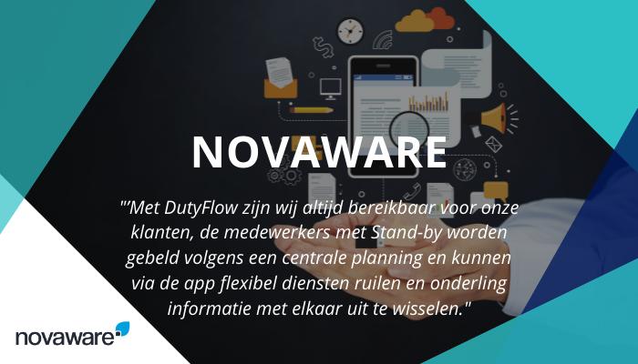 Novaware online marketing kiest voor de bereikbaarheidsdienst van DutyFlow